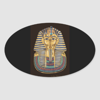 Tutankhamon's Golden Mask Oval Sticker
