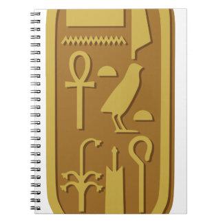 Tutankhamun Cartouche Spiral Note Books