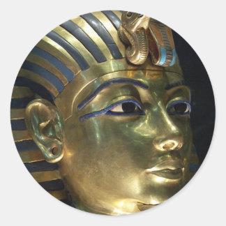 tutankhamun classic round sticker