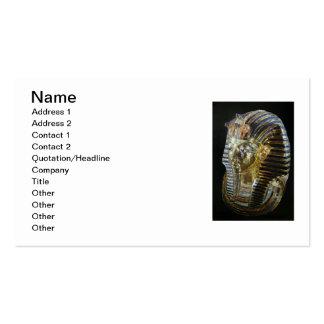 Tutankhamun's Golden Mask Business Card Template