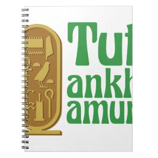 Tutankhamun Spiral Note Books