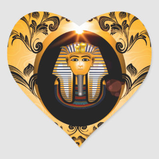 Tutankhamun, the agyptische pharaoh heart sticker