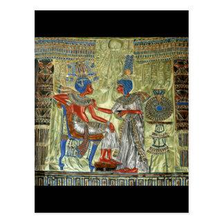 Tutankhamun's Throne Postcard