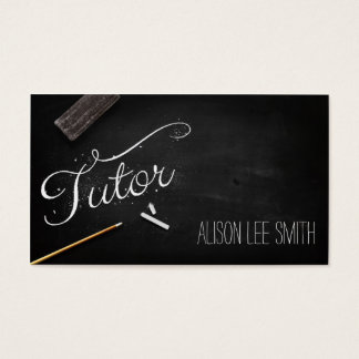 Tutor chalkboard business card