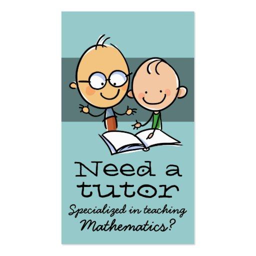 Tutor Tutoring Teacher Make money tutoring Business Cards