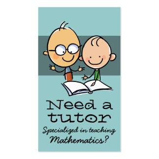 Tutor Tutoring Teacher Make money tutoring Pack Of Standard Business Cards