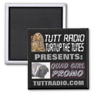 Tutt Radio Quad Girl's Magnet