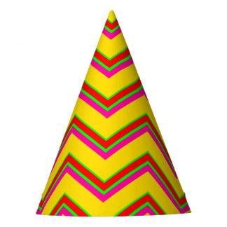 Tutti Frutti Chevron 1-PAPER PARTY HATS