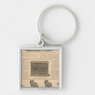 Tuttle and Bailey Manufacturing Company Silver-Colored Square Keychain