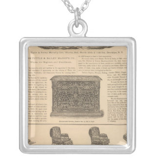 Tuttle and Bailey Manufacturing Company Square Pendant Necklace