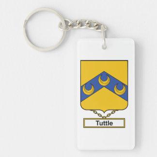 Tuttle Family Crest Single-Sided Rectangular Acrylic Keychain