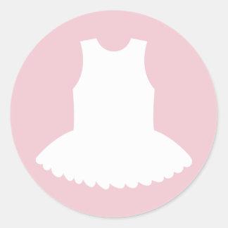 Tutu baby shower stickers for ballerina girl