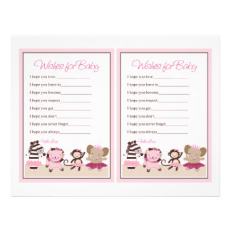 """Tutu Cute Animals """"Wishes for Baby"""" sheet"""