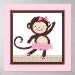 Tutu Cute/Ballerina Monkey Girl Poster Wall Art