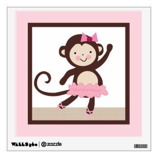 Tutu Cute/Ballerina Monkey Wall Decal