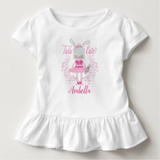 Tutu Cute Bunny Personalized Toddler T-shirt
