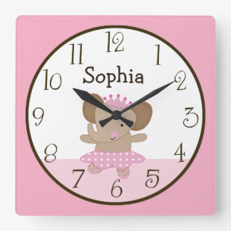 Tutu Cute/Elephant Ballerina Kid's Baby Clock