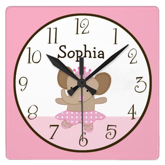 Tutu Cute/Elephant Ballerina Kid's Baby Clock