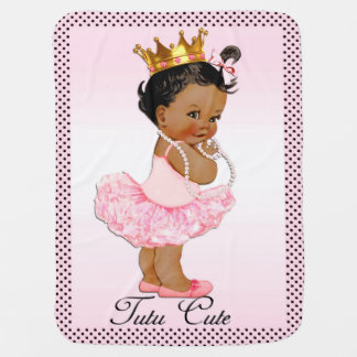 Tutu Cute Ethnic Princess Polka Dots Double Sided Baby Blanket