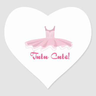 Tutu Cute Heart Sticker