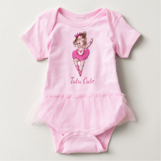Tutu Cute Vintage Princess Baby Ballerina Baby Bodysuit