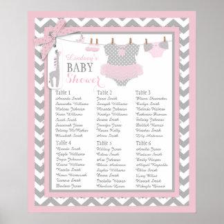 Tutu Diaper Booties Baby Shower Seating Chart