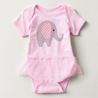 Tutu Onepiece with Adorable Elephant Baby Bodysuit