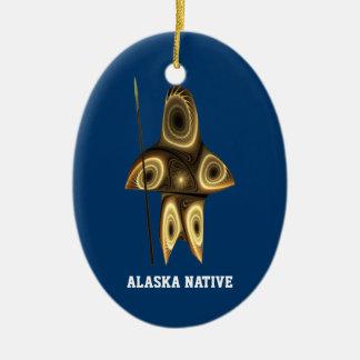 Tuvaaq - Alaska Native Ceramic Oval Ornament