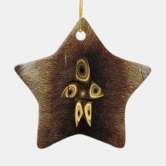 Tuvaaq - Fractal Inuit Hunter Ceramic Star Ornament