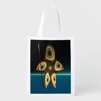 Tuvaaq - Fractal Inuit Hunter Reusable Grocery Bag
