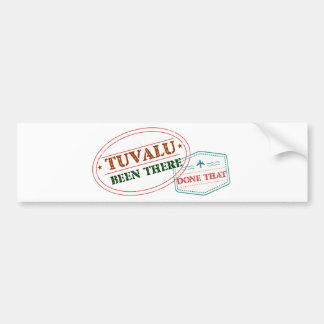 Tuvalu Been There Done That Bumper Sticker