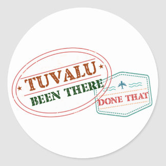 Tuvalu Been There Done That Classic Round Sticker