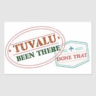 Tuvalu Been There Done That Sticker