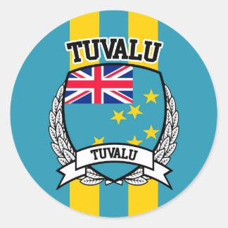 Tuvalu Classic Round Sticker