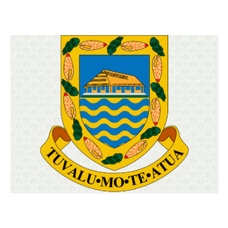 Tuvalu Coat of Arms detail Postcard