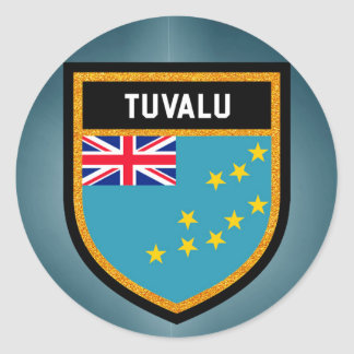 Tuvalu Flag Classic Round Sticker