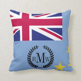 Tuvalu Flag Throw Pillow