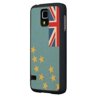 Tuvalu Flag Carved® Maple Galaxy S5 Case