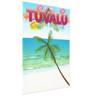 Tuvalu Island travel poster Canvas Print
