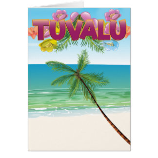 Tuvalu Island travel poster Card