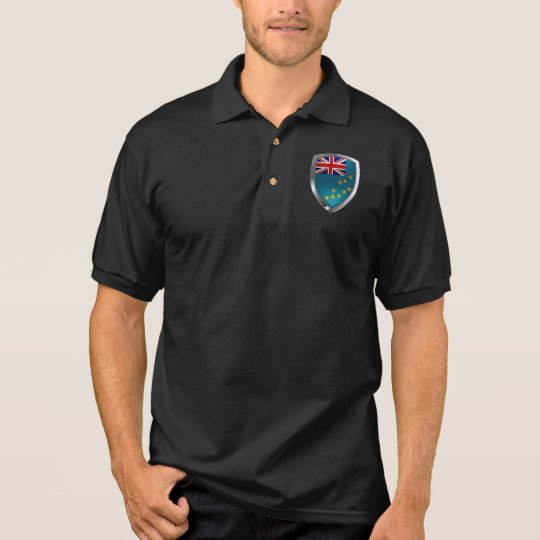 Tuvalu Metallic Emblem Polo Shirt