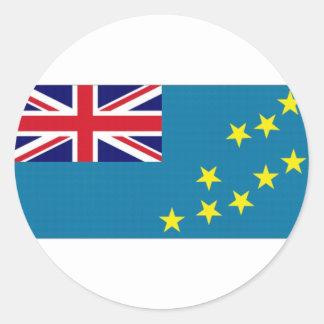 Tuvalu National Flag Round Sticker
