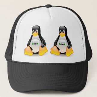 Tux Linux Geek Trucker Hat