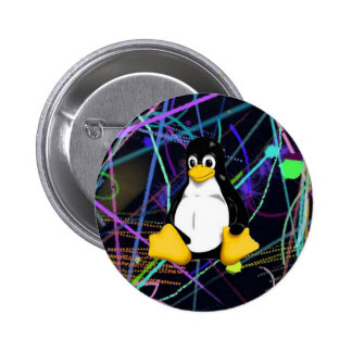 TUX Scribbles 2 Inch Round Button