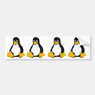 tux the linux logo penguin bumper sticker
