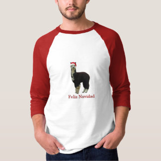Tuxedo alpaca Feliz Navidad T-Shirt