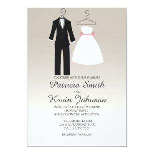 Tuxedo And Dress Wedding Invitation