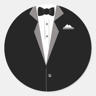 Tuxedo Art Round Sticker