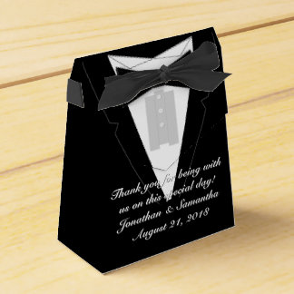 Tuxedo Black Bowtie Favor Box