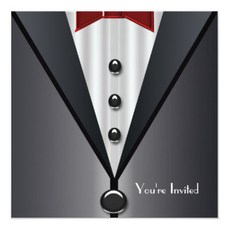 Tuxedo Black Tie Formal Event Black Tie Party Card